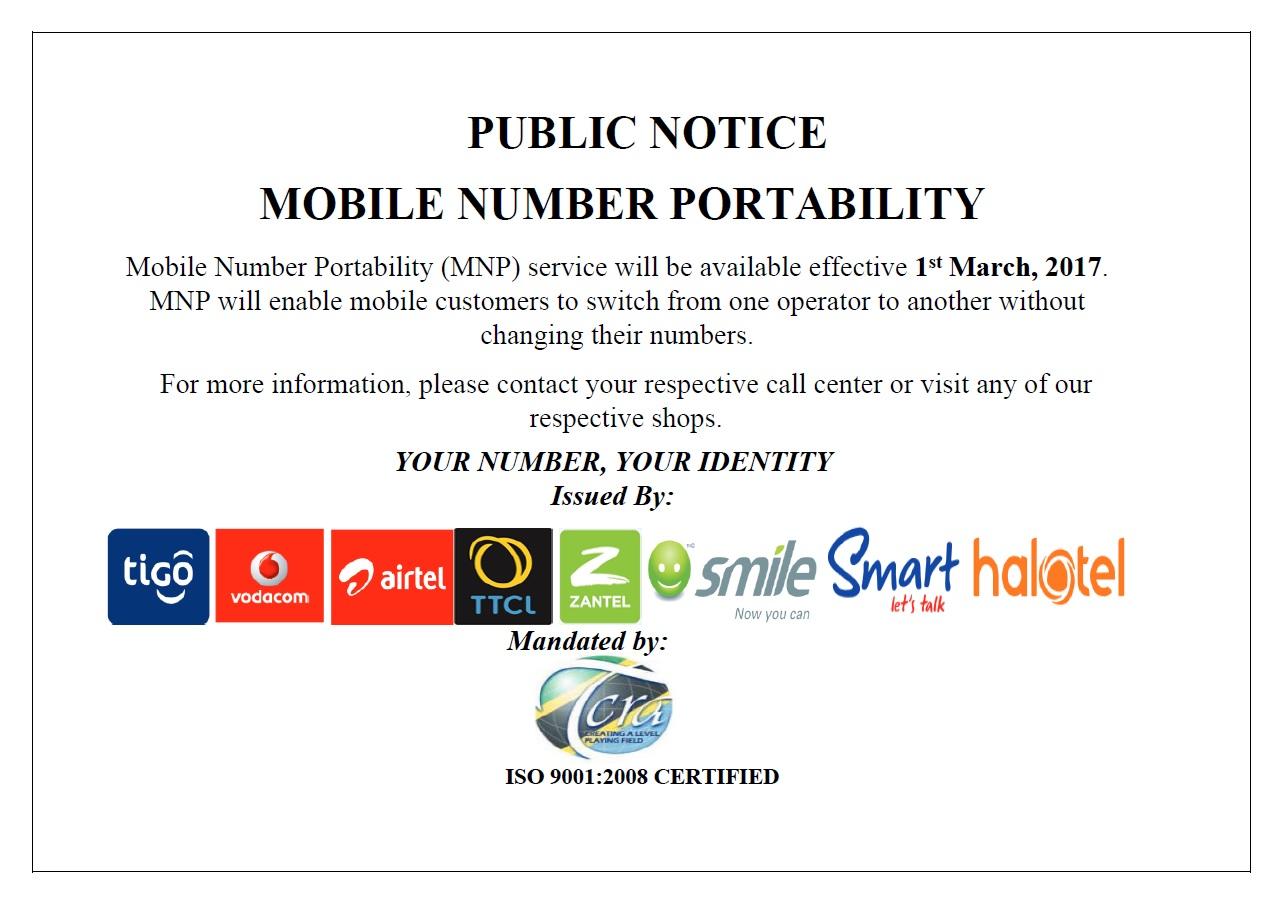 MNP Public notice